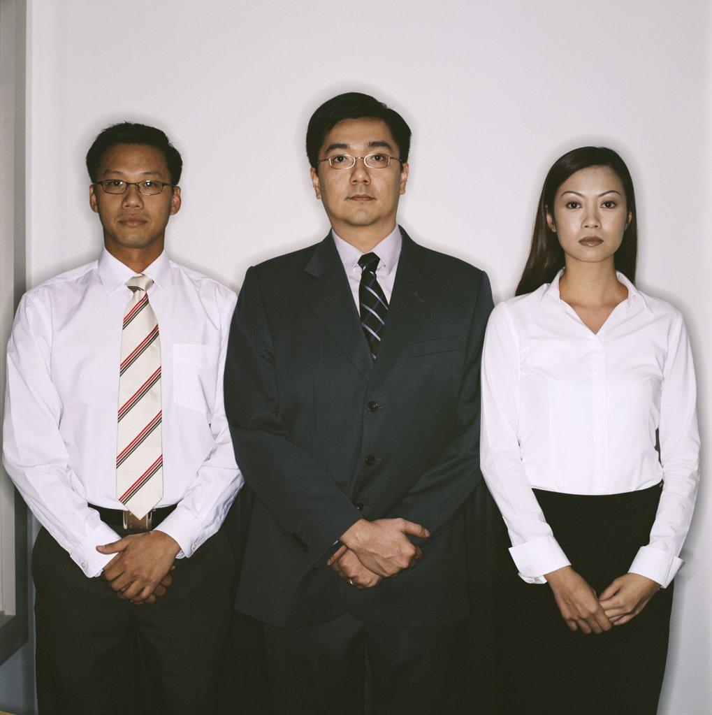 Three businesspeople : Stock Photo