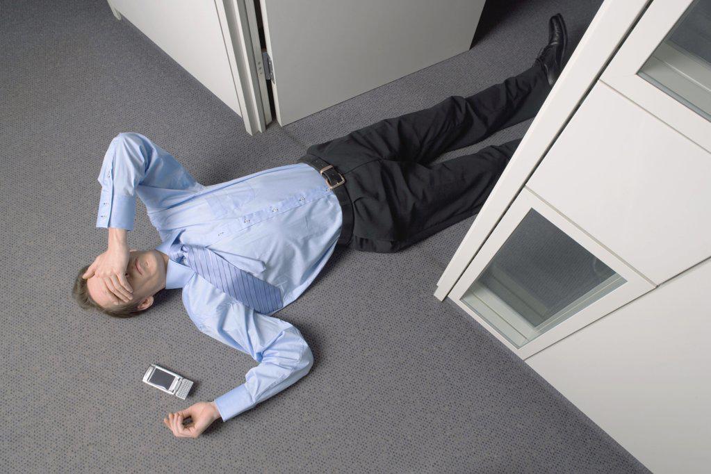 Dead businessman : Stock Photo