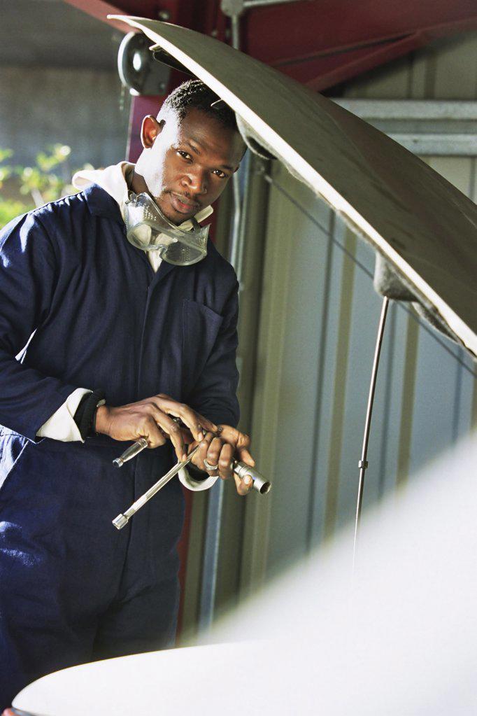 Mechanic portrait : Stock Photo