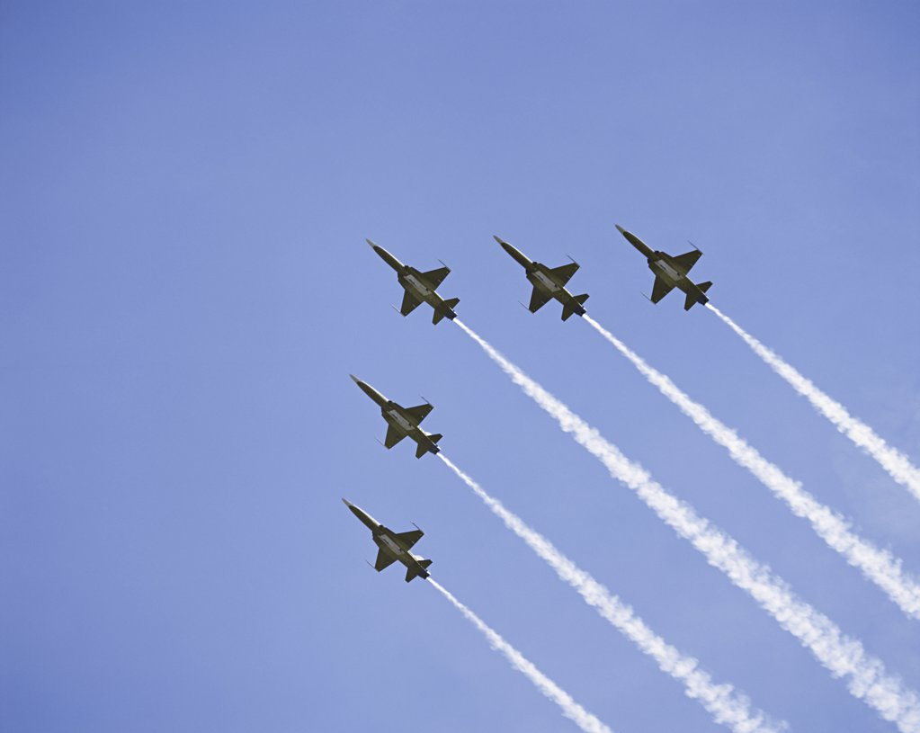 Stock Photo: 1439R-07320 Air force aerobatic team