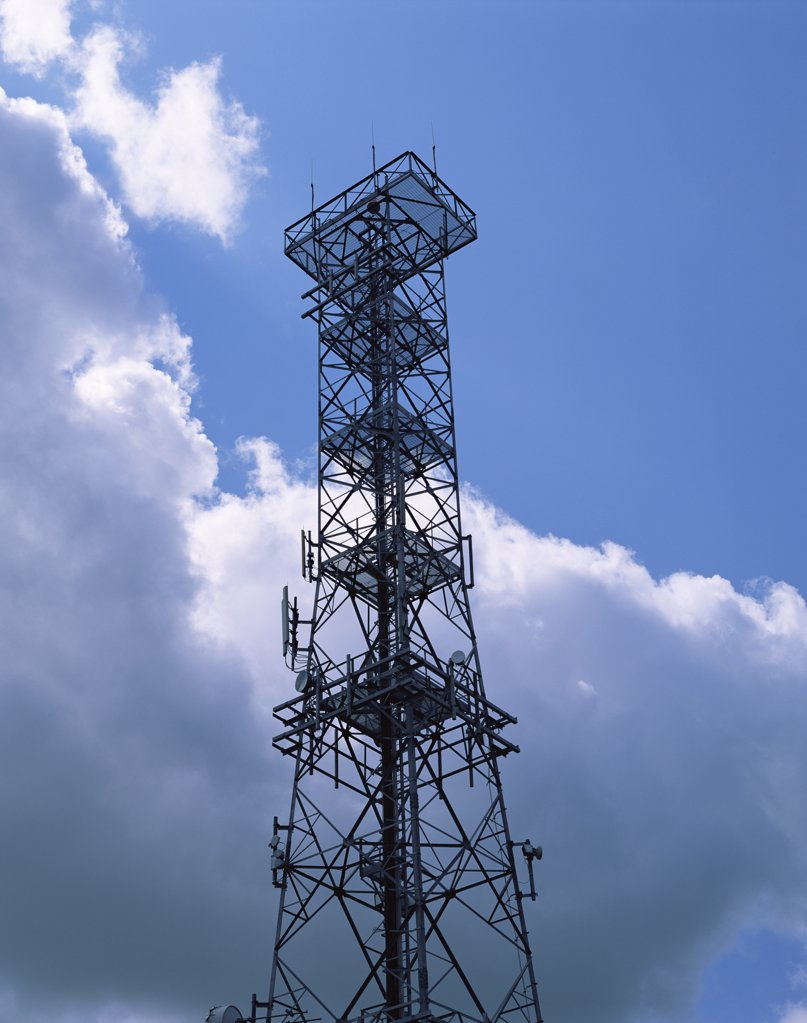 Stock Photo: 1439R-07328 Communication tower