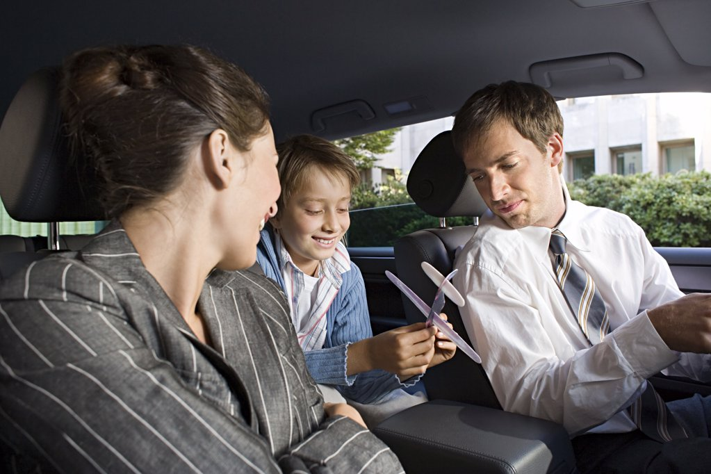 Family in car : Stock Photo