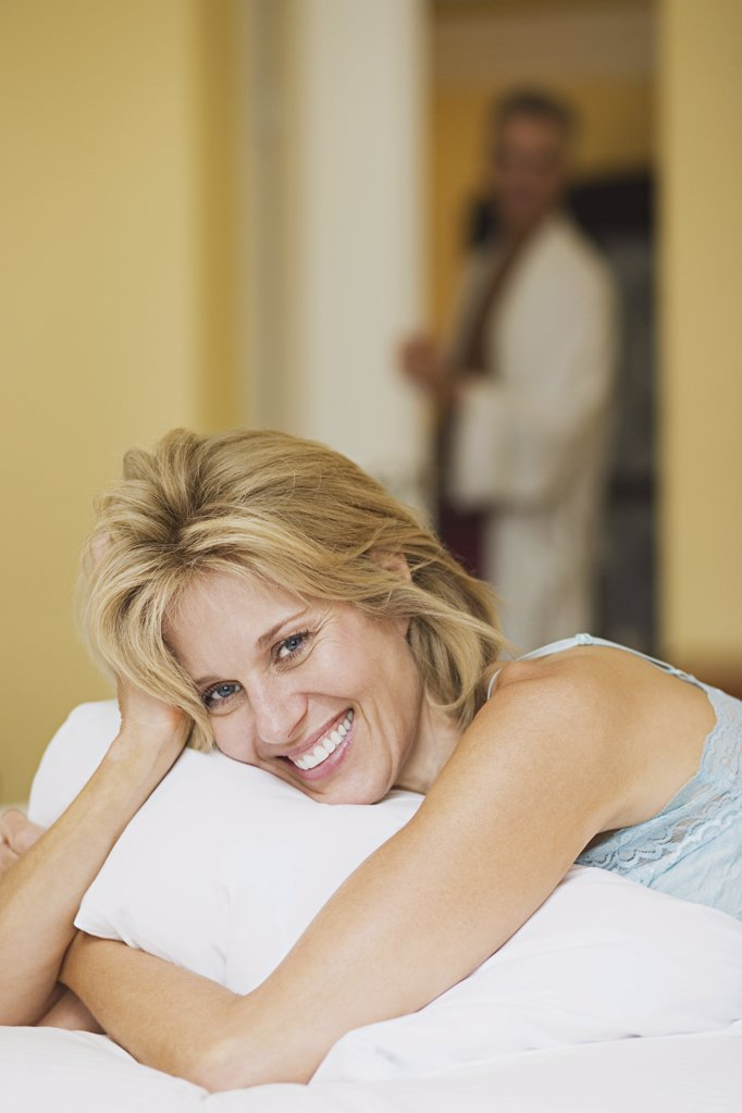 Stock Photo: 1439R-1000278 Happy mature woman
