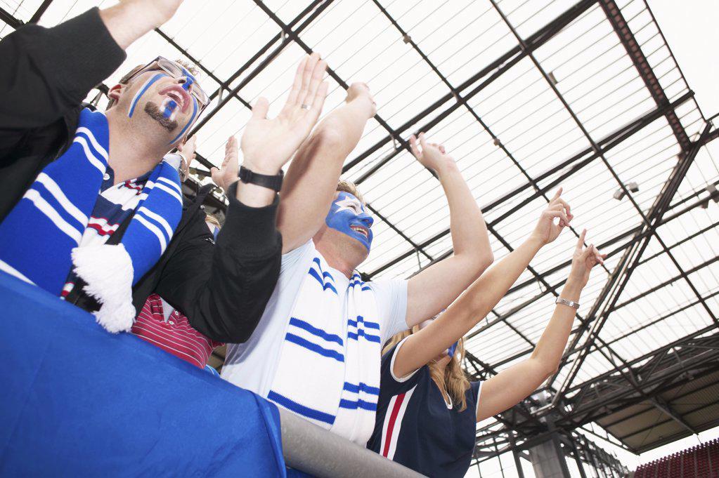 Football fans : Stock Photo