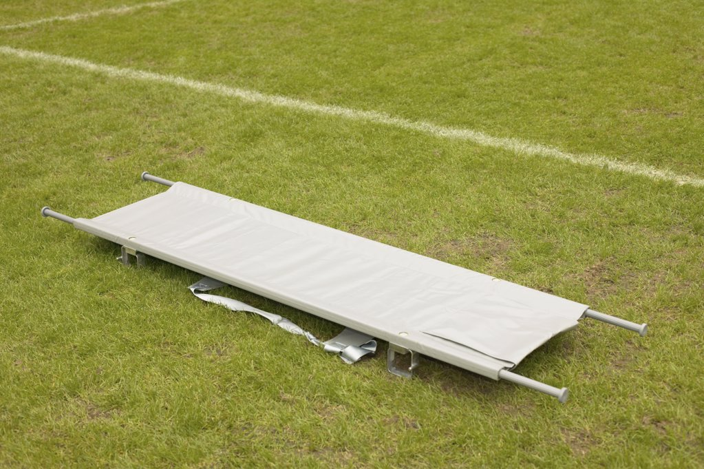 Stock Photo: 1439R-1000907 Stretcher on football pitch