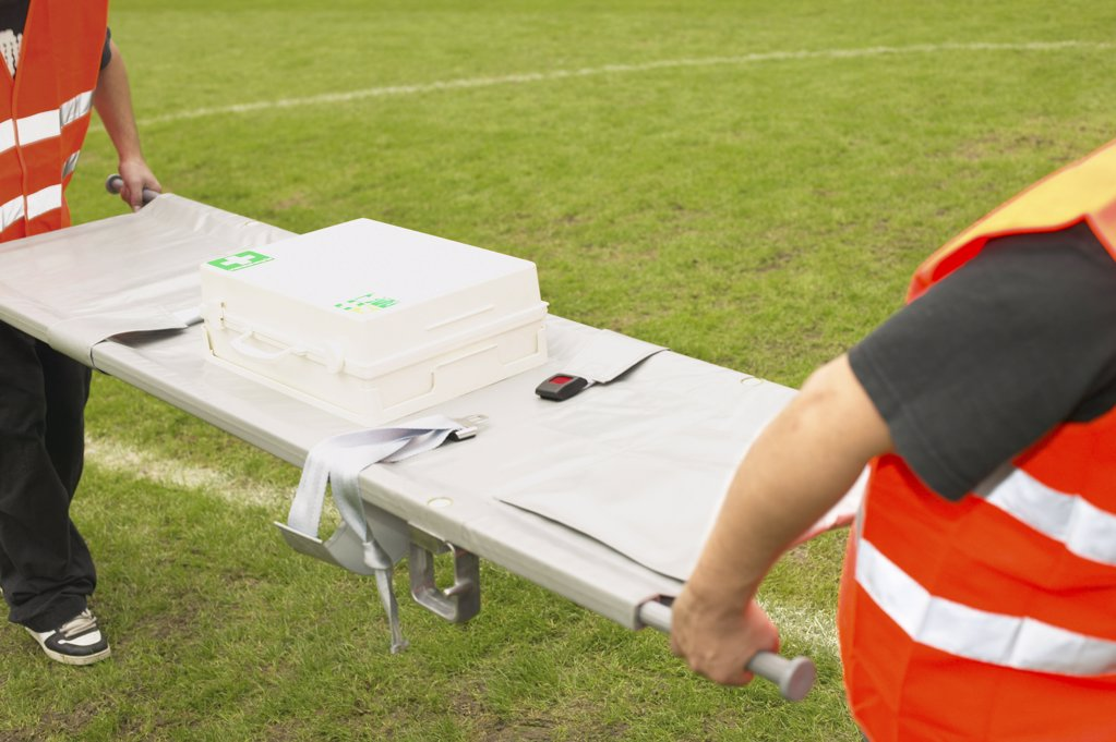 Stretcher carriers : Stock Photo