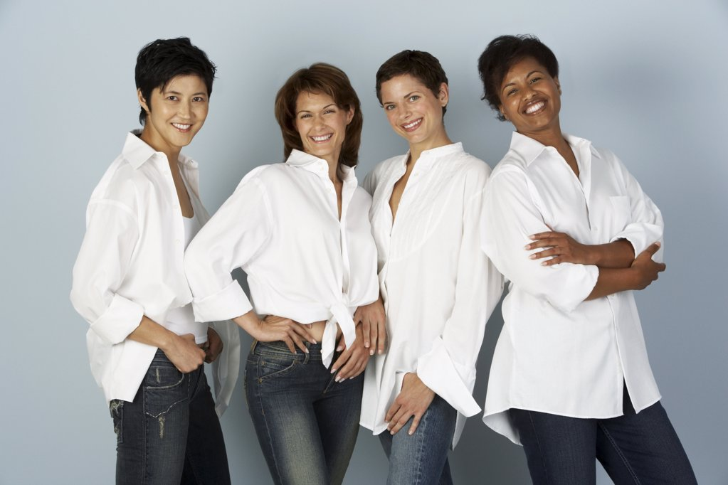 Stock Photo: 1439R-1001696 Portrait of four women