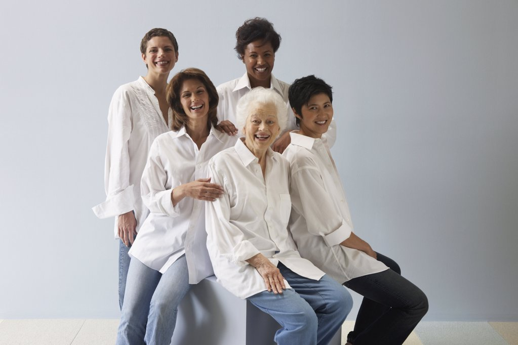 Portrait of five women : Stock Photo