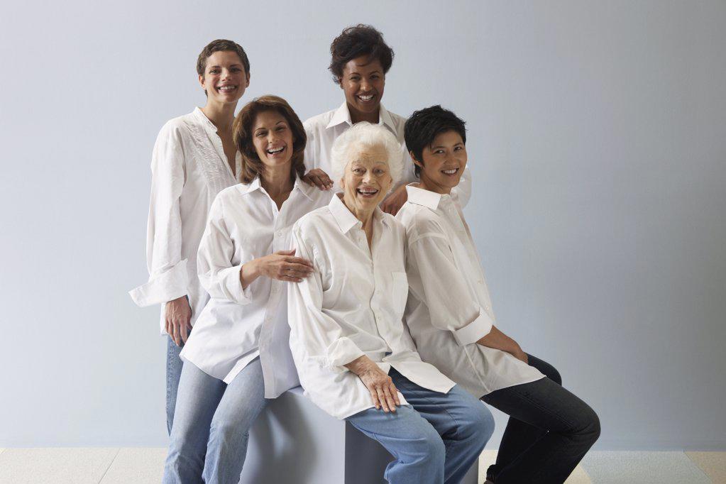Stock Photo: 1439R-1001718 Portrait of five women