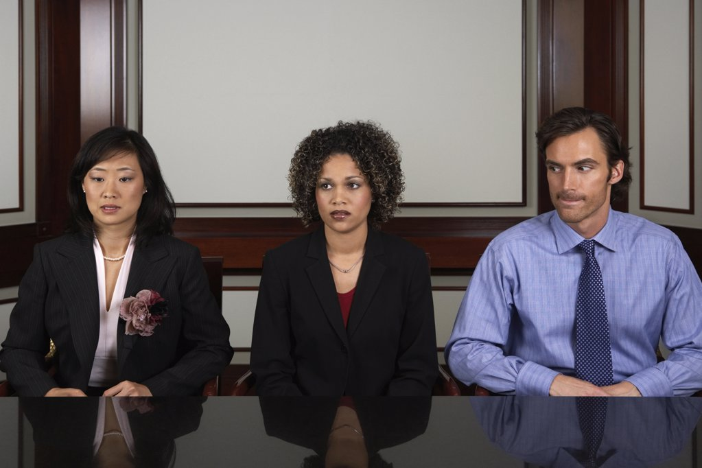 Stock Photo: 1439R-1002711 Three young office workers