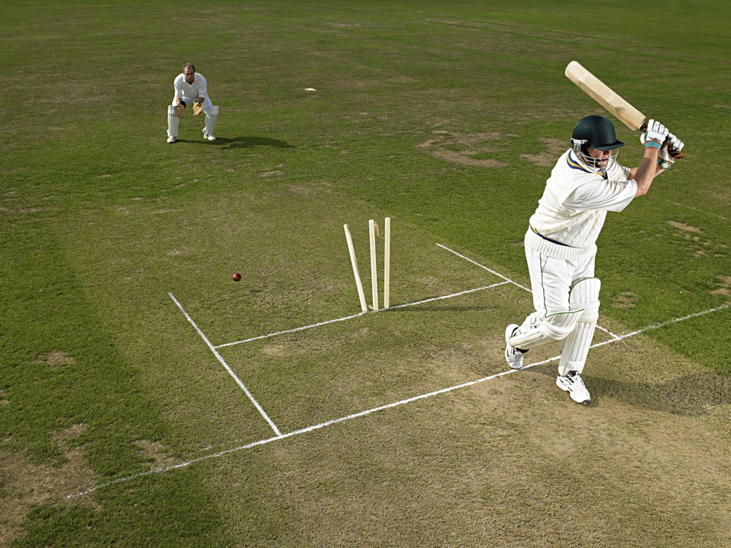 Cricketers : Stock Photo
