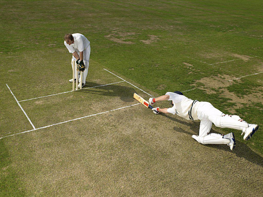 Cricketers : Stock Photo