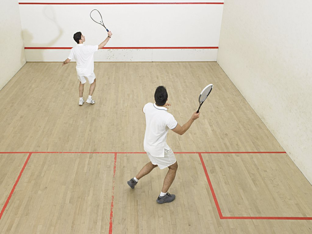 Stock Photo: 1439R-1003169 Men playing squash