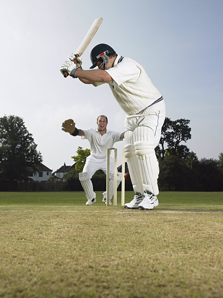 Stock Photo: 1439R-1003180 Cricketers
