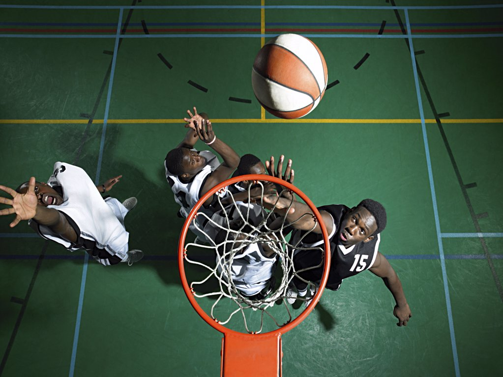 Basketball players : Stock Photo