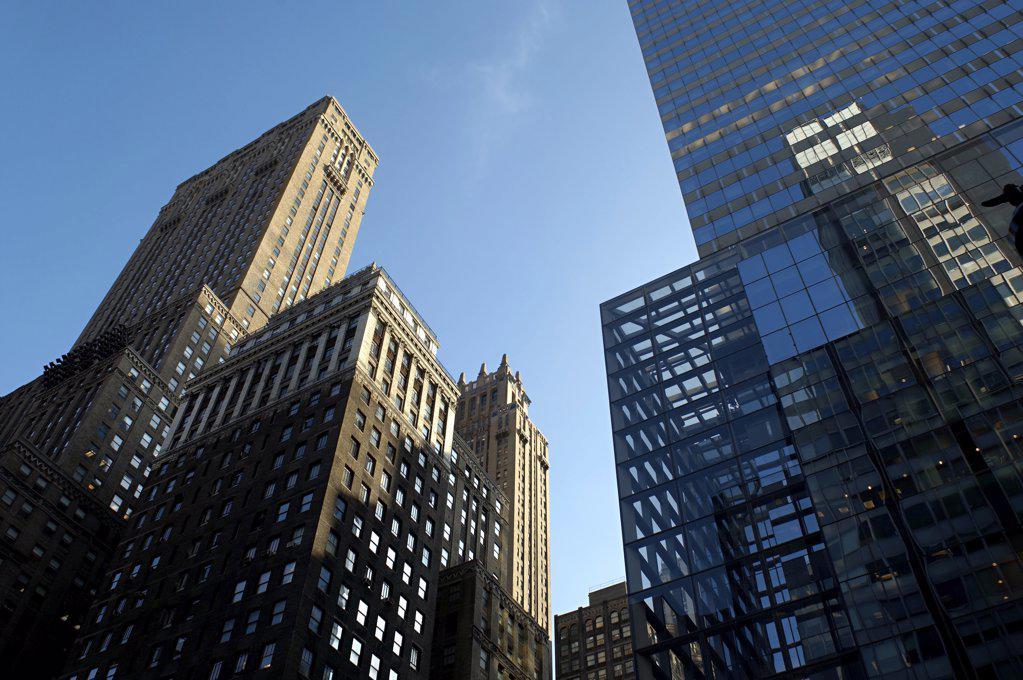 Stock Photo: 1439R-1003948 New york skyscrapers