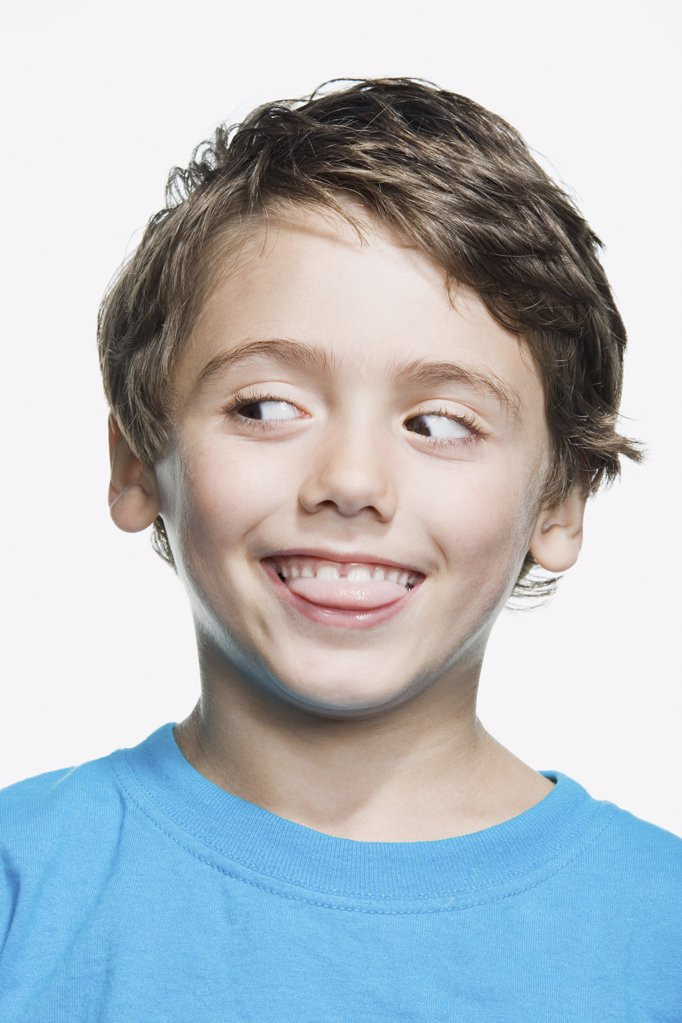 Portrait of a young boy : Stock Photo