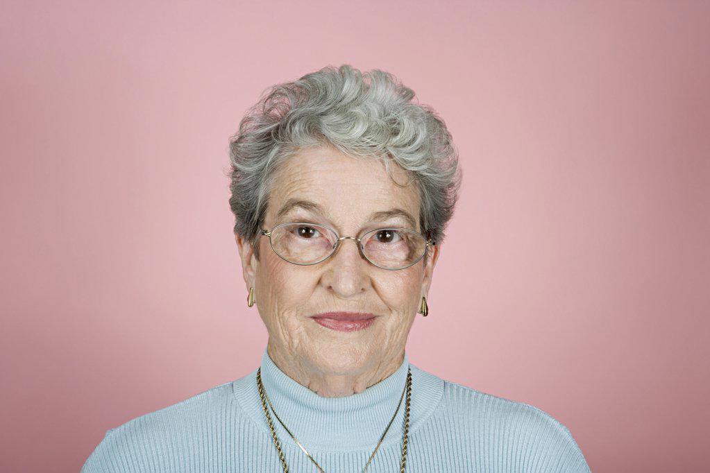 Portrait of a senior adult woman : Stock Photo