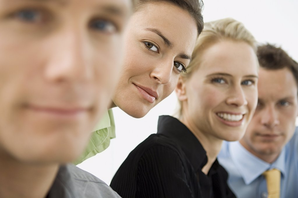 Portrait of four office workers : Stock Photo