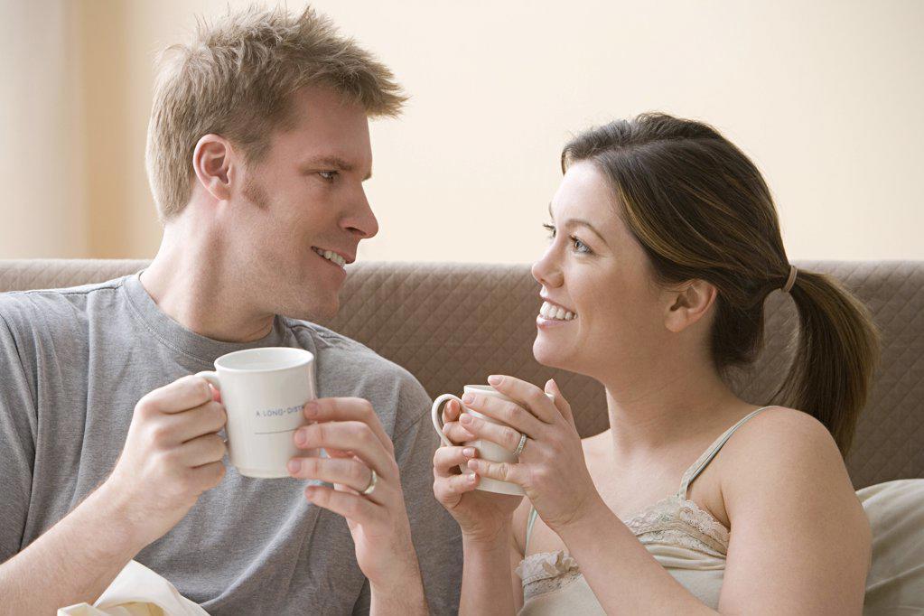 Couple having coffee : Stock Photo