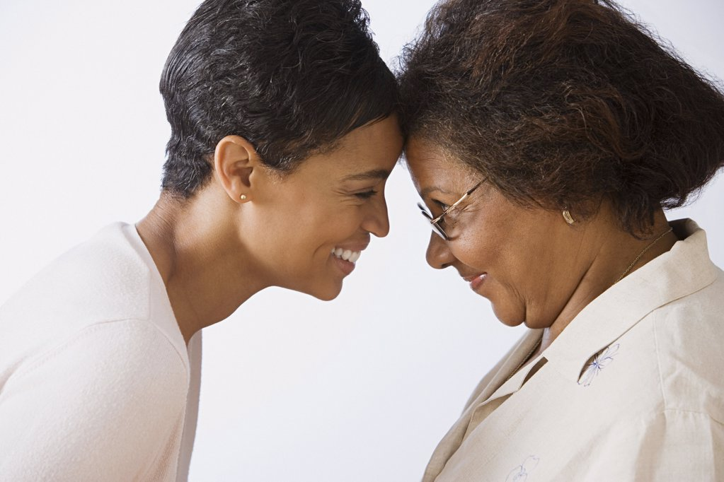 Stock Photo: 1439R-1005976 Mother and daughter face to face