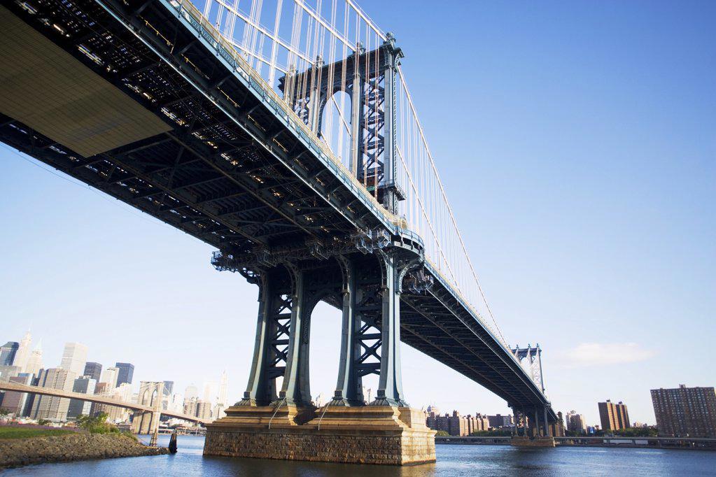 Stock Photo: 1439R-1006433 Manhattan bridge new york