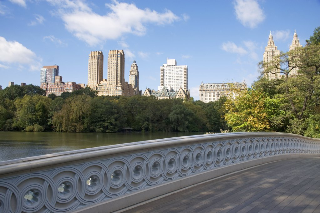 Bow bridge central park new york : Stock Photo