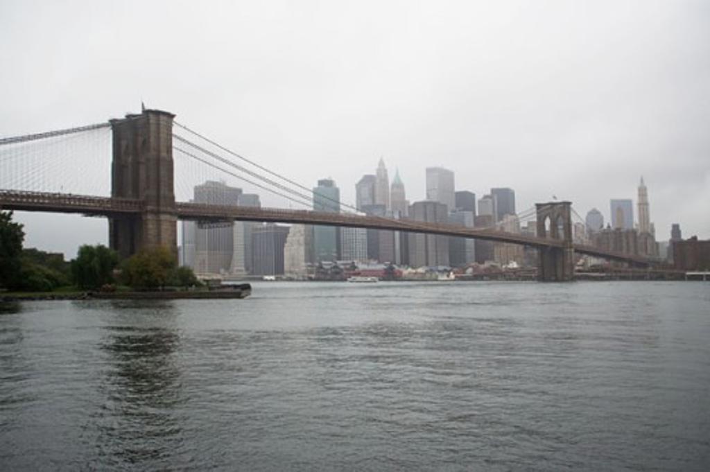 Stock Photo: 1439R-1006451 Brooklyn bridge new york