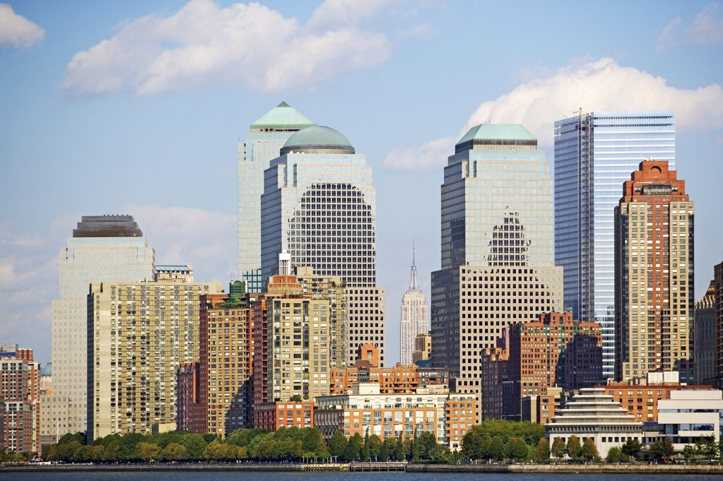 Stock Photo: 1439R-1006454 New york sky scrapers