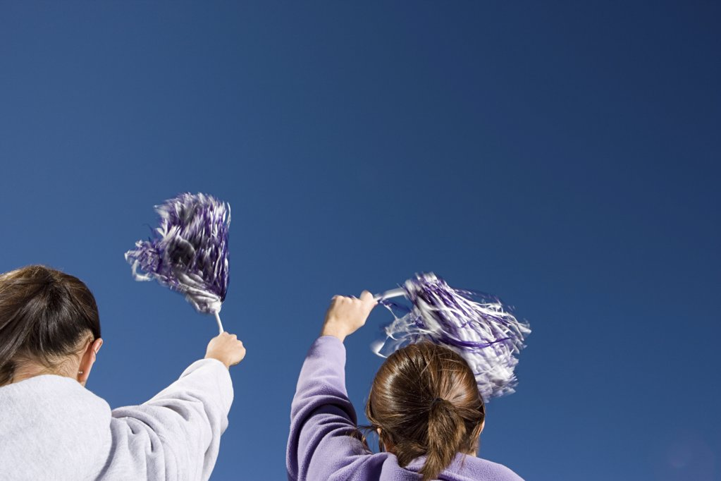 Girls cheerleading : Stock Photo