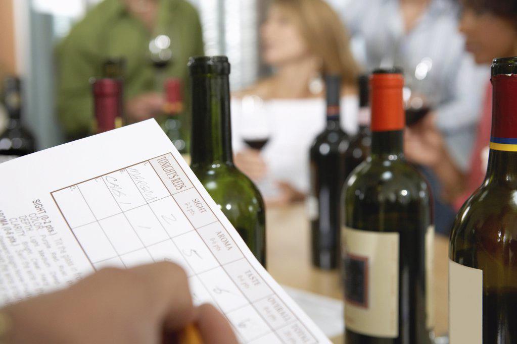 Wine tasting evening : Stock Photo