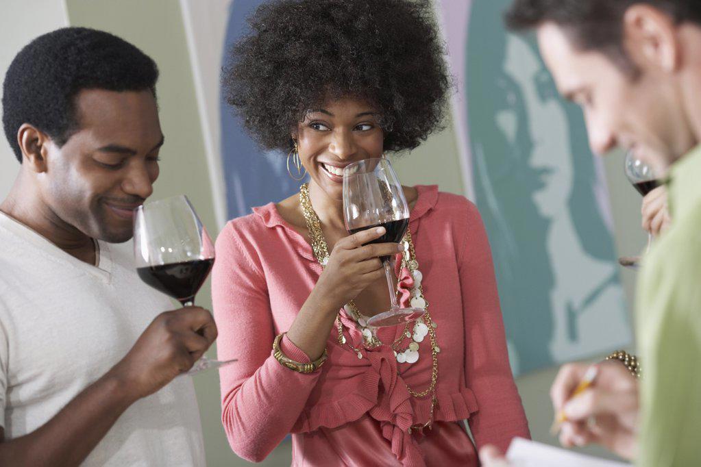 Stock Photo: 1439R-1007469 Friends wine tasting