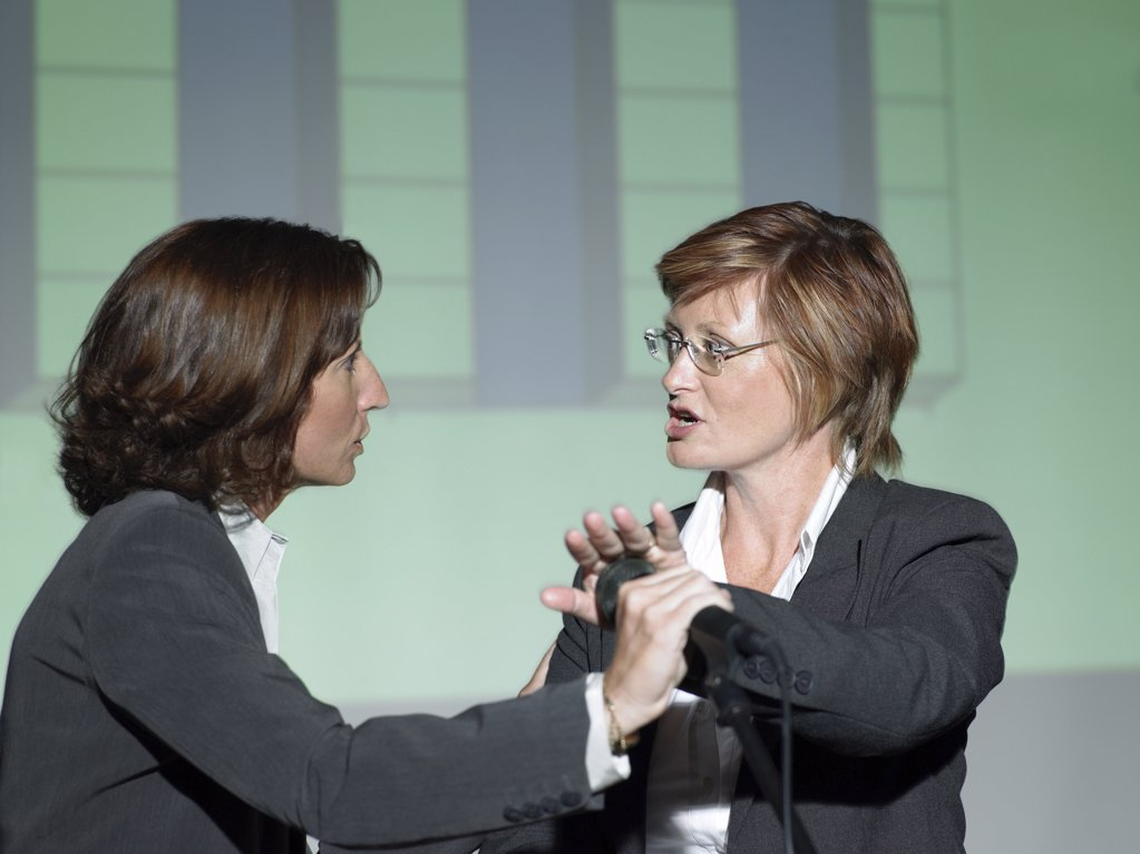 Businesswomen arguing : Stock Photo