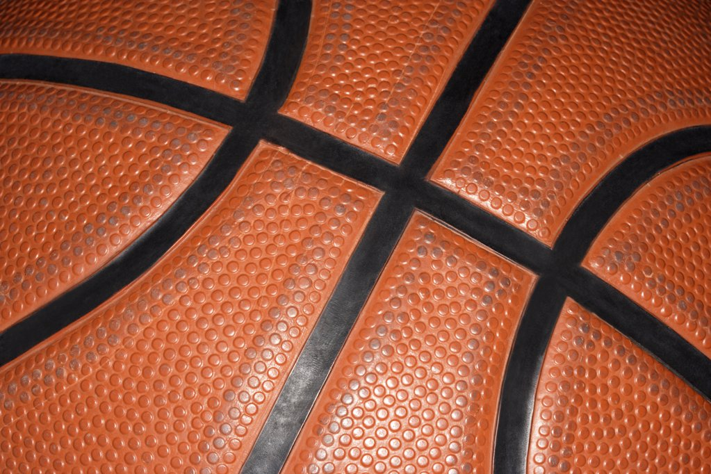 Stock Photo: 1439R-1007737 Close up of a basketball