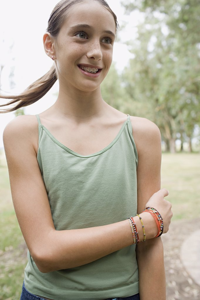 Stock Photo: 1439R-1009293 Smiling girl with brace