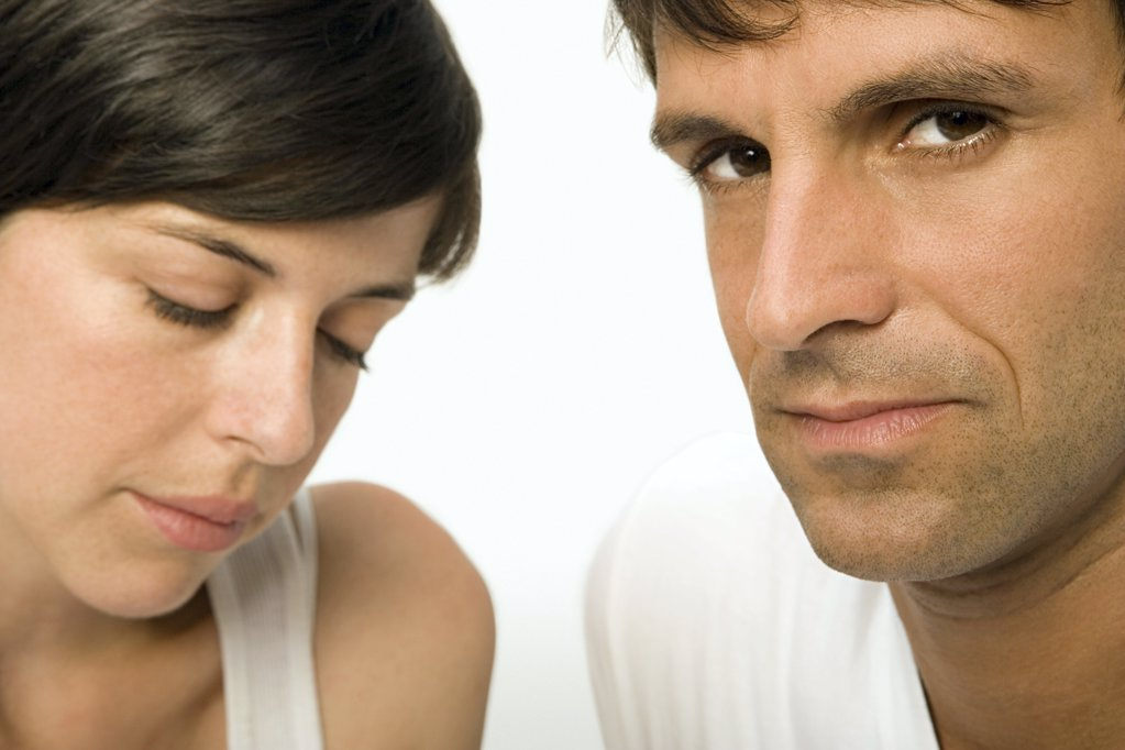Stock Photo: 1439R-1009338 Unhappy couple