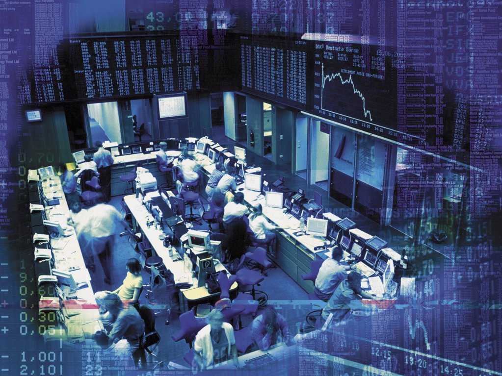 Stock Photo: 1439R-101010 Trading floor