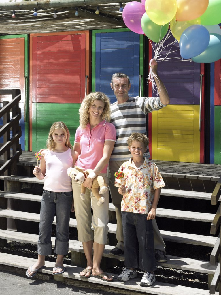 Family at the fair : Stock Photo