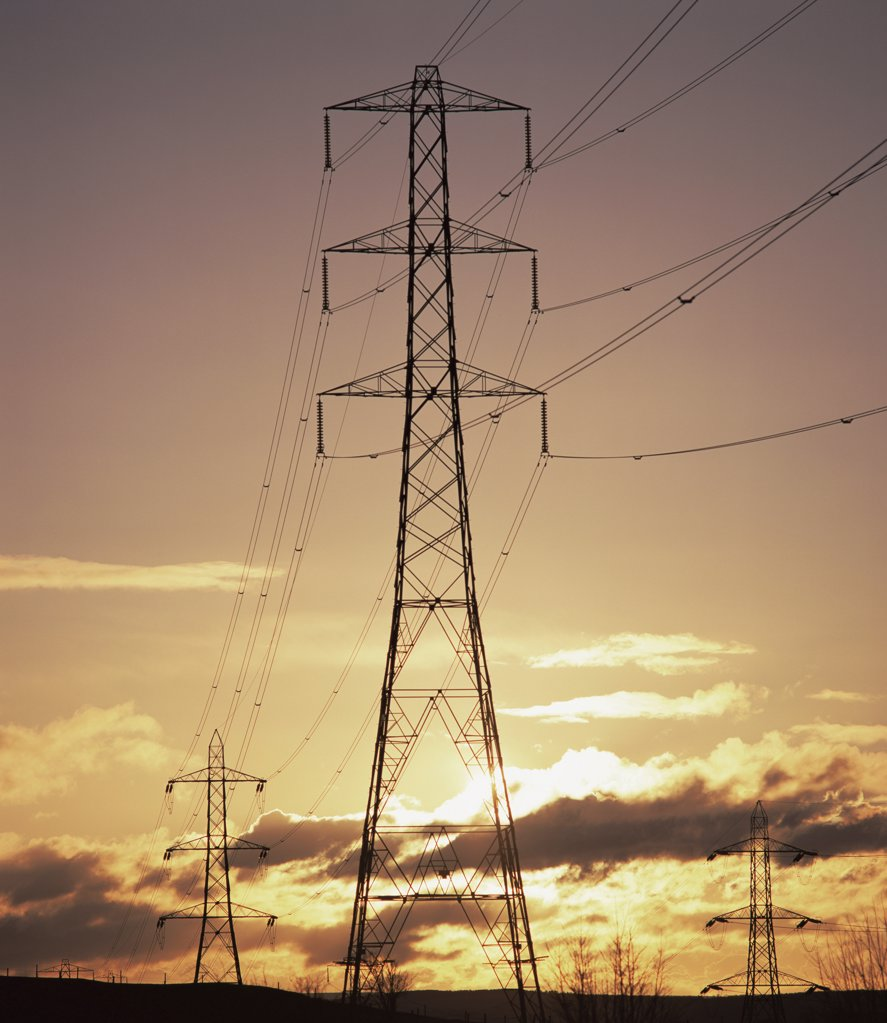 Pylon edinburgh scotland : Stock Photo