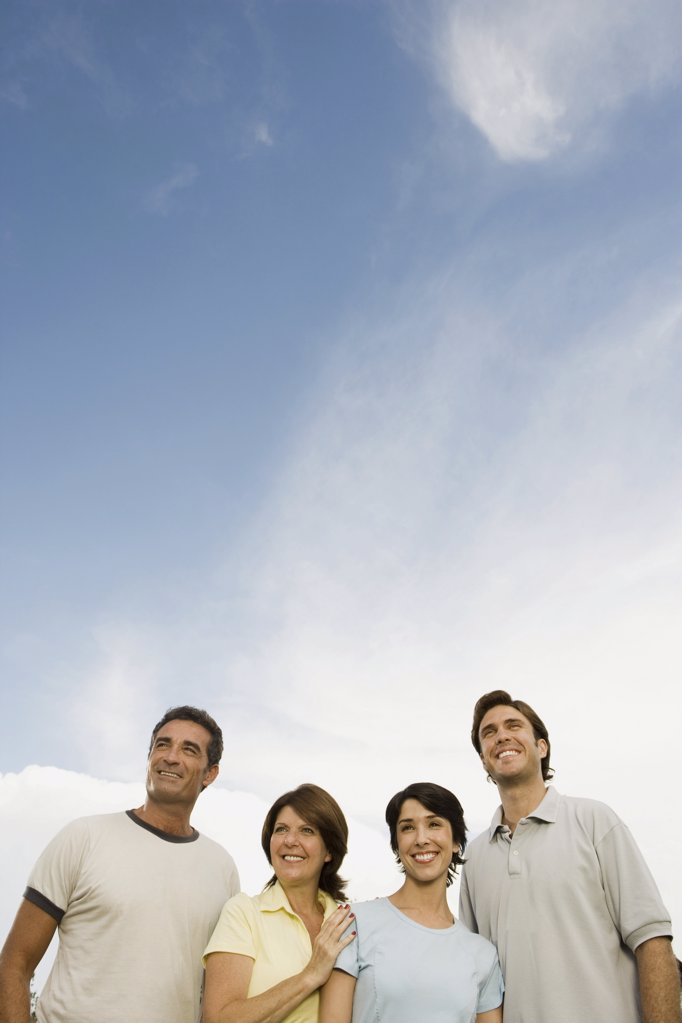 Stock Photo: 1439R-1015410 Grown up family outdoors