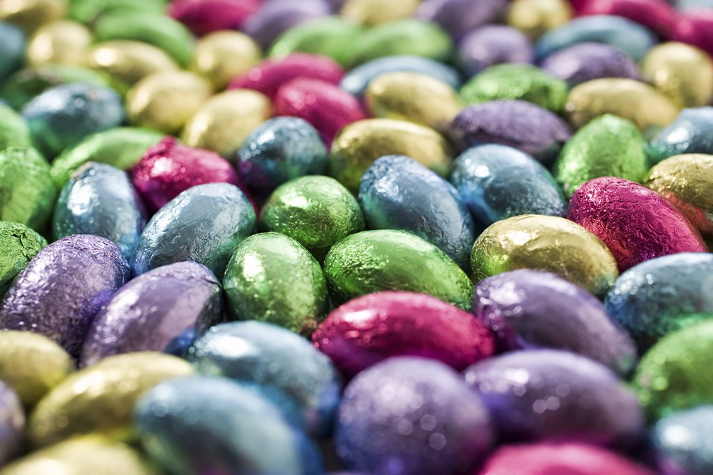 Lots of colourful eggs : Stock Photo