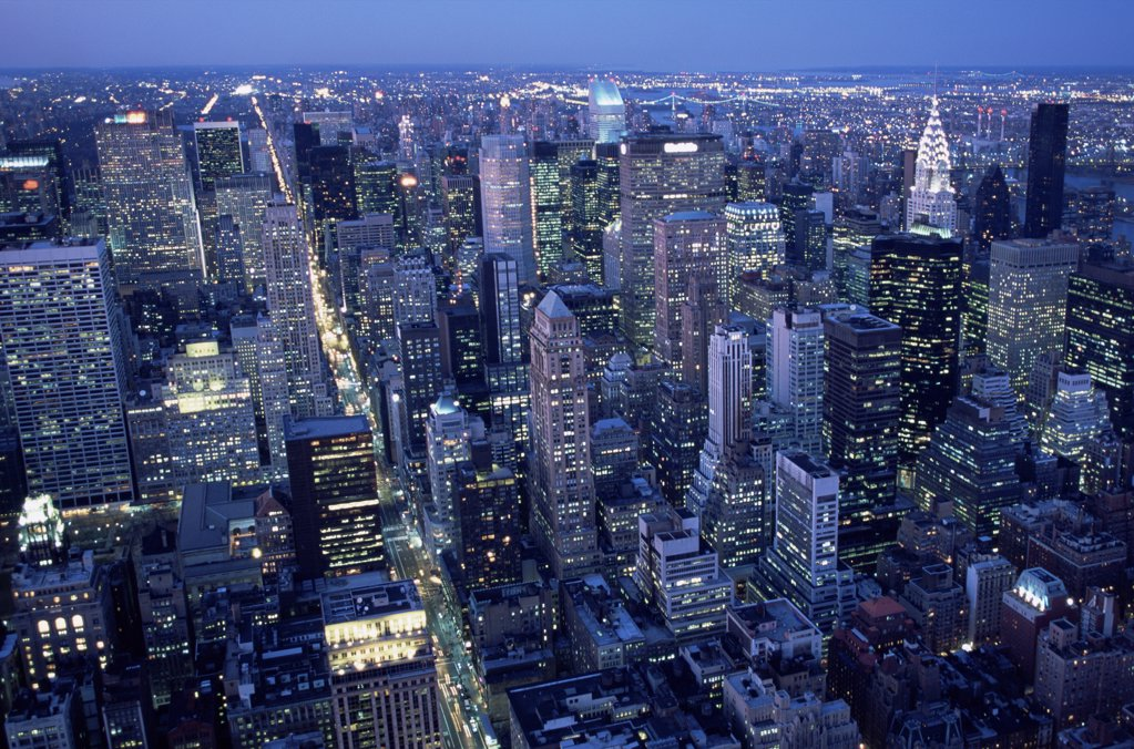 Stock Photo: 1439R-1028518 New york city at night