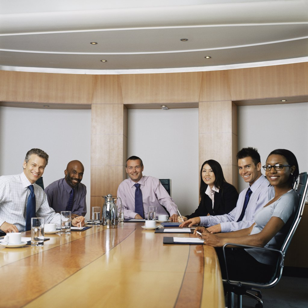 Stock Photo: 1439R-1028627 Businesspeople in conference room