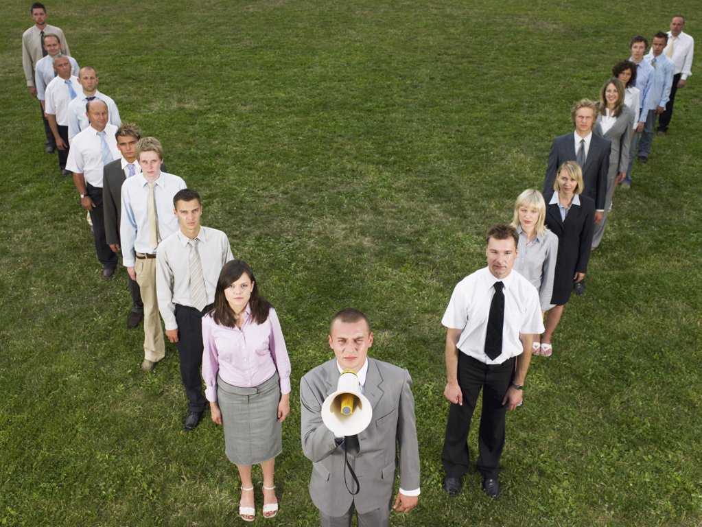 Businesspeople in a row : Stock Photo