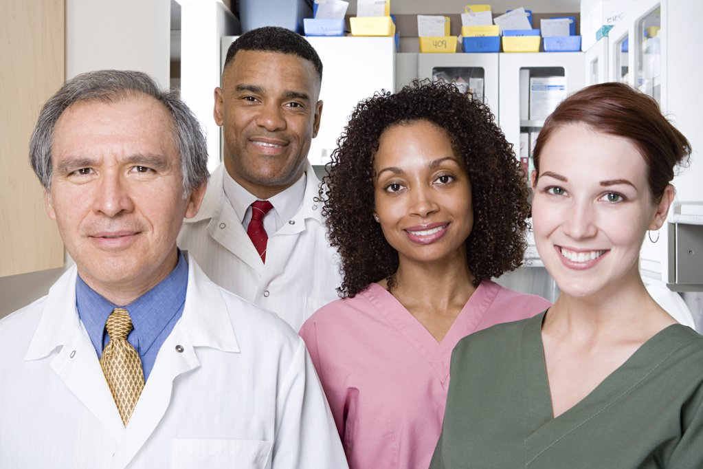 Stock Photo: 1439R-1030724 Dentists and dental nurses