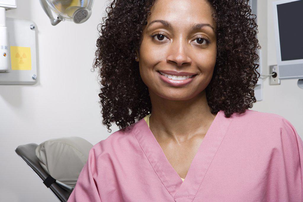Stock Photo: 1439R-1030744 Dental nurse