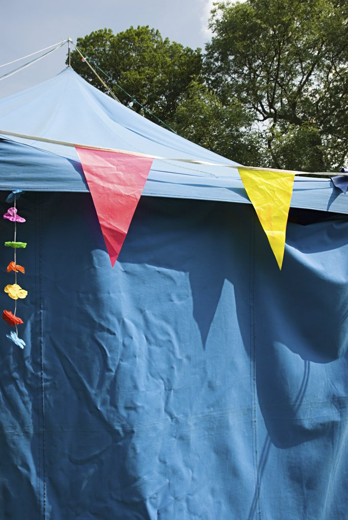 Stock Photo: 1439R-1031406 Bunting on a marquee