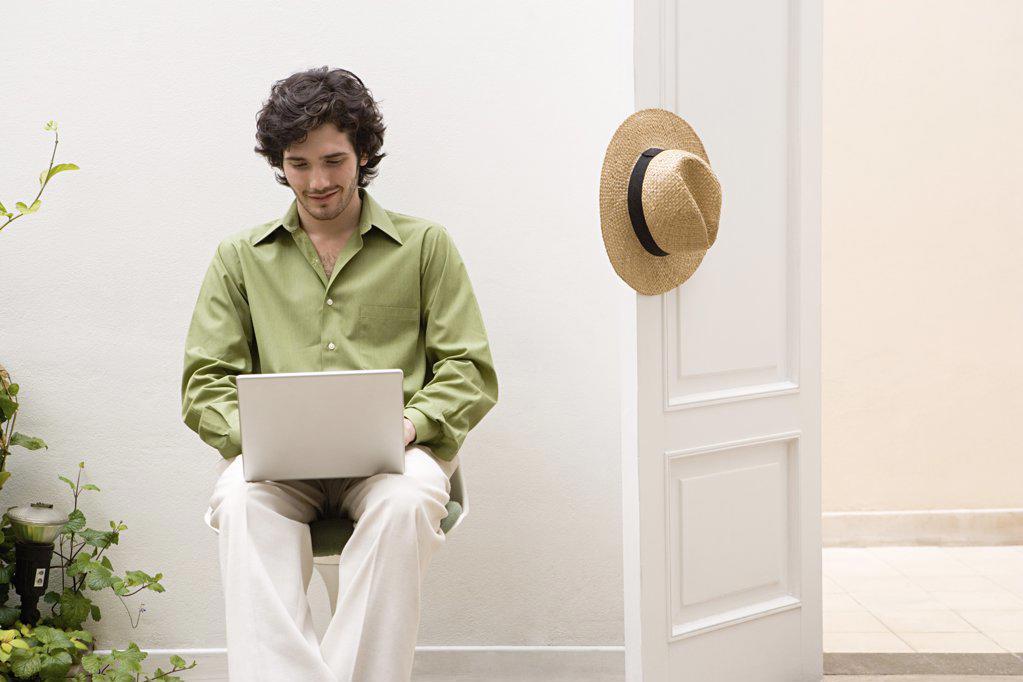Man working on laptop : Stock Photo