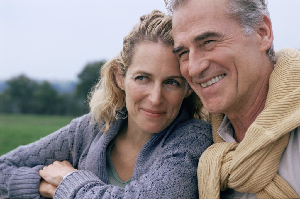 Couple in the countryside : Stock Photo