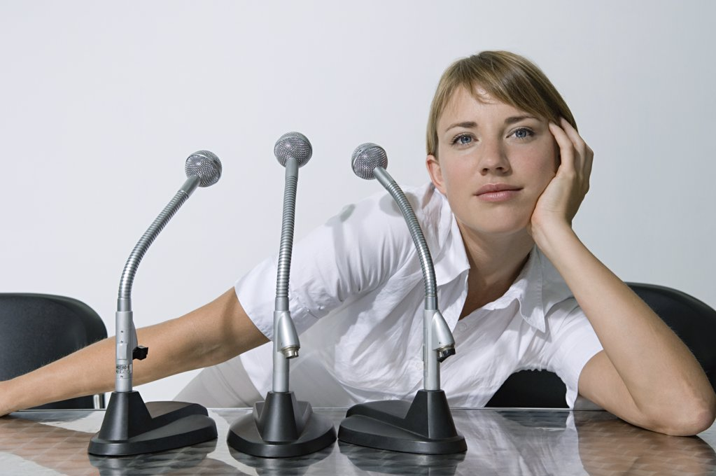 Stock Photo: 1439R-1038547 Businesswoman daydreaming